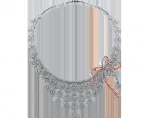 crisscut cushion diamond necklace, lili jewelry unique collection