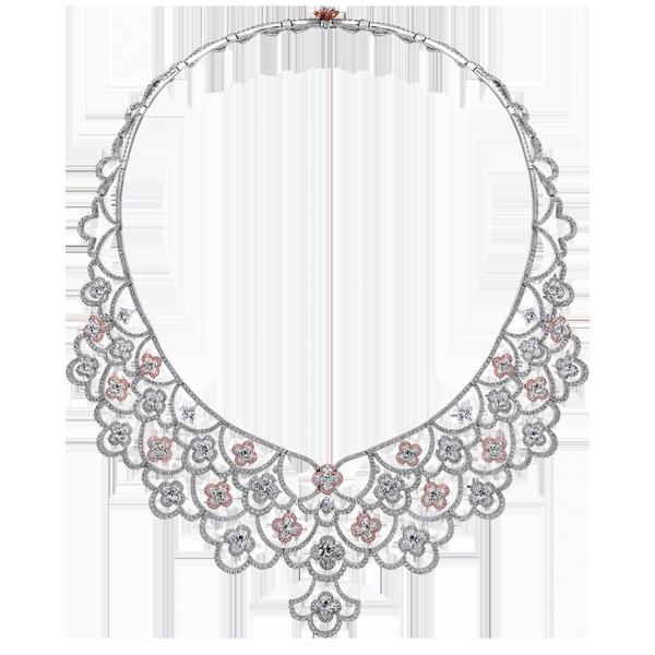 Lily Unique Necklace- diamond flower Necklace