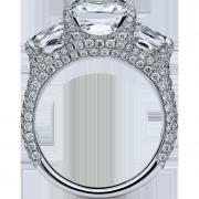 crisscut cushion diamond ring, lili jewelry unique diamond
