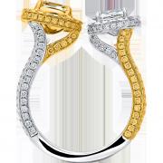 crisscut cushion ring, lili unique diamonds