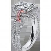 crisscut diamond ring, lili jewelry unique collection
