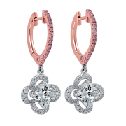Tricolor- Lily Diamond Earrings, Lili Jewelry pink diamonds