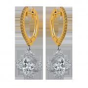 Tricolor- Lily Diamond Earrings, Lili Jewelry fancy yellow