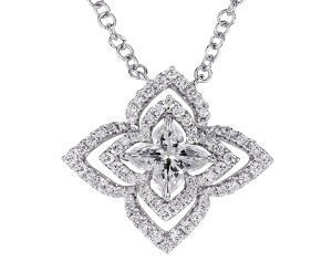 Diuris - Orchidea Diamond Pendant, Lili Jewelry
