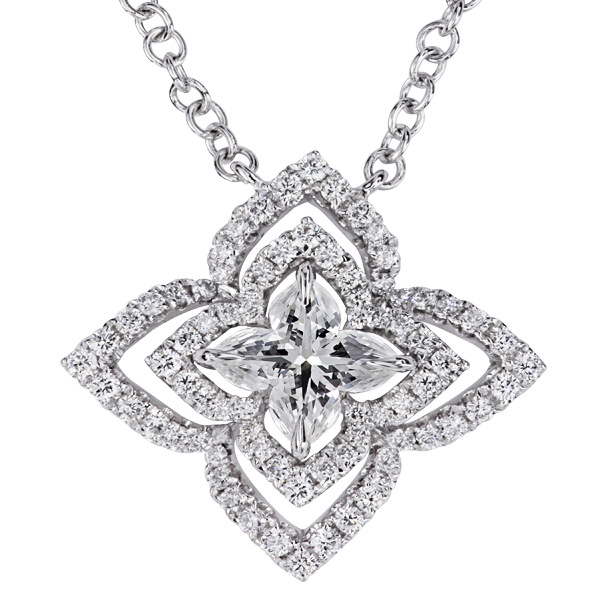 Diuris - Orchidea Diamond Pendant, Lili Jewelry