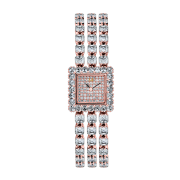 Diamond Crisscut Cushion Watch - HWACRC-ME3463---B