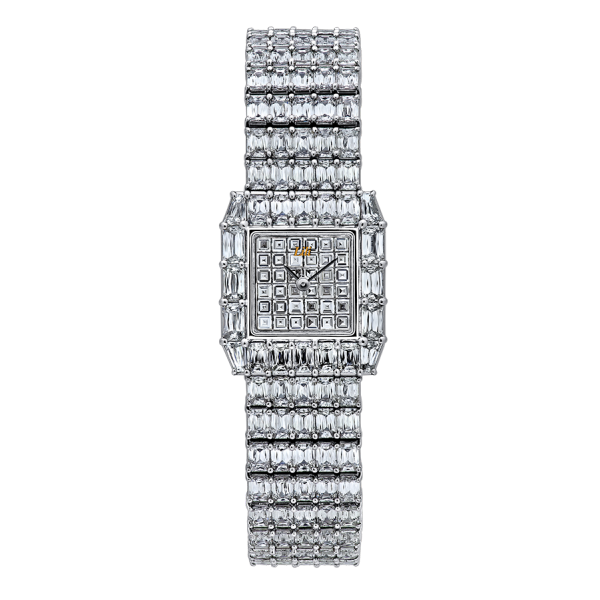 Diamond Crisscut Watch - HWACRE-ME02410---A