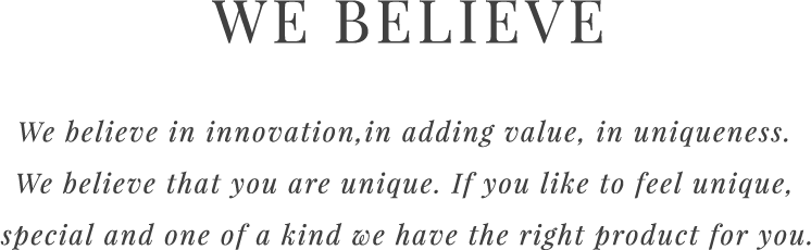 We Believe - Desktop Slide Text